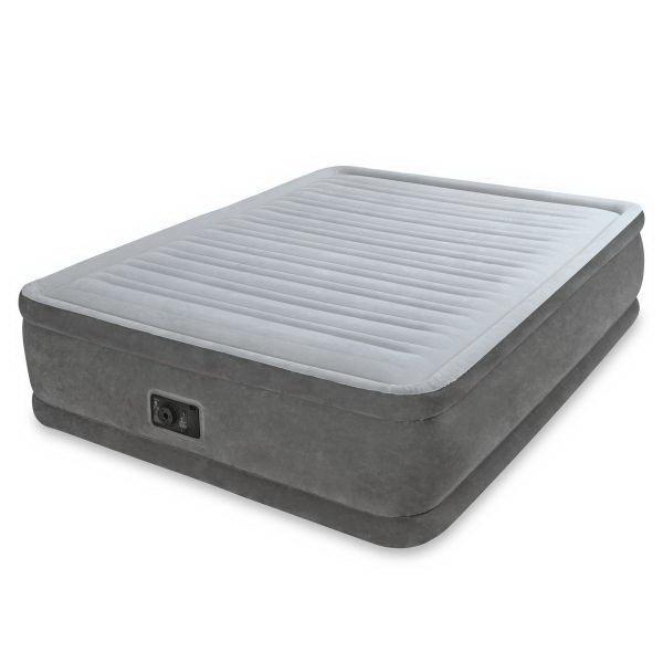 Кровать Intex Comfort-Plush Elevated 152х203х46см с встрн.насосом 220в