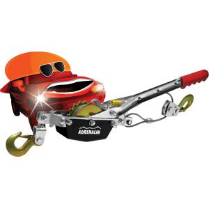 Лебедка ручная Adrenalin Hand Winch 1 тоннаРучные лебедки<br>Ручная лебедка позволяет вытащить застрявший на бездорожье автомобиль, может быть использована в гараже или на даче для перемещения грузов при монтажных и демонтажных работах.<br><br><br>- Грузоподъемность: 1000 кг;<br>- Длина троса: 3 м.<br>