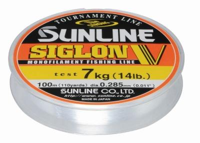 Монолеска Sunline Siglon V 100m Clear 0.185mm 3.5kg (106656)Монофильные лески<br>Новая версия бюджетной универсальной высококачественной лески. Siglon V имеет трехслойное покрытие из полимерной смолы по новому методу, благодаря чему рабочие качества значительно улучшены, а также снижено влагопоглощение. Леска стала значительно мягче и...<br>