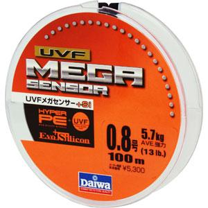 Леска Daiwa UVF Megasensor + Si #0.8-100 (25116)Плетеные шнуры<br>Cпециальной обработкой при помощи системы UVF (Ultra Volume Fiber)<br>