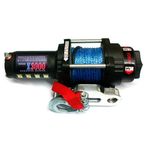 Лебедка Электрическая Stormbringer X3000SЛебедки<br>Силовая электрическая лебедка для квадроциклов. Контакты выполнены из нержавеющей стали.<br>