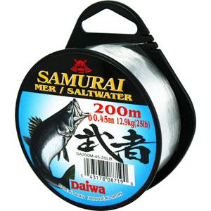Монолеска Daiwa Samurai Saltwater 200мМонофильные лески<br>Японская леска, супермягкая. Сделана из нейлона премиального класса, имеет белый цвет.<br>