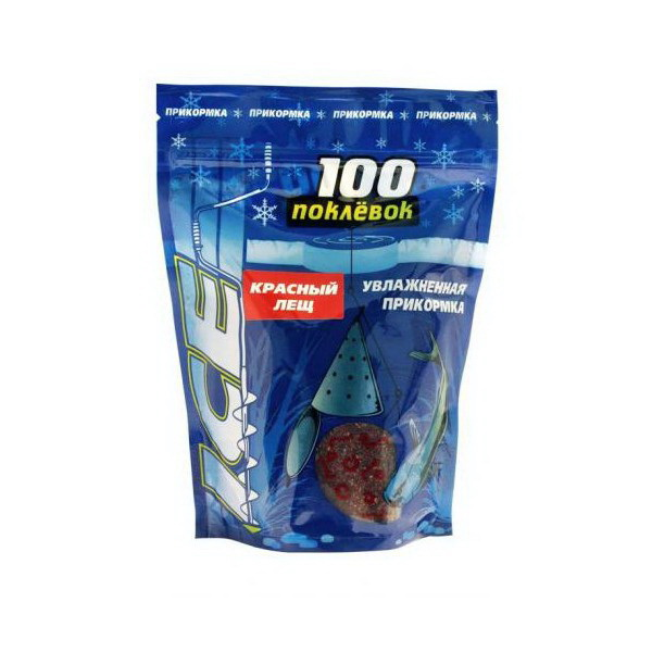 Прикормка 100 Поклевок Ice Лещ красный 500 гр.Прикормки<br>Прикормка применяется для зимней рыбалки. Она предварительно увлажнена. Для того, чтобы воспользоваться ею, необходимо размять ее в руке и заполнить кормушку.<br>