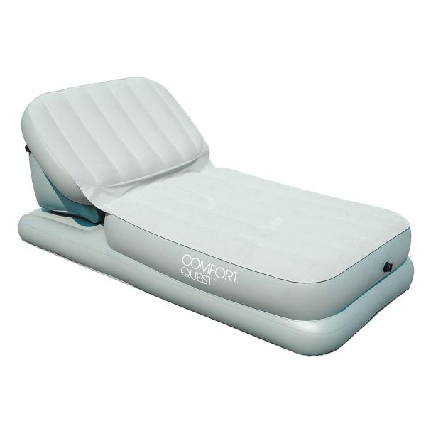 Кровить Bestway надувная  Airbed with Adjustable Backrest 67386Раскладушки, кровати складные<br>Эта уникальная модель надувной кровати отличается своей многофункциональностью. Ночью обеспечит комфортные условия для крепкого сна, а днем превратиться в удобную и малогабаритную кушетку с регулируемым положением спинки.<br>