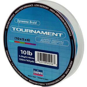 Леска Daiwa Tournament Accudepth 150-10 (19033)Плетеные шнуры<br>Леска плетеная Daiwa Tournament Accudepth - разноцветная леска, позволяет вам точно измерить глубину и длину.<br>