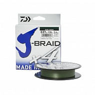 Леска плетеная DAIWA J-Braid X4 Green 135м